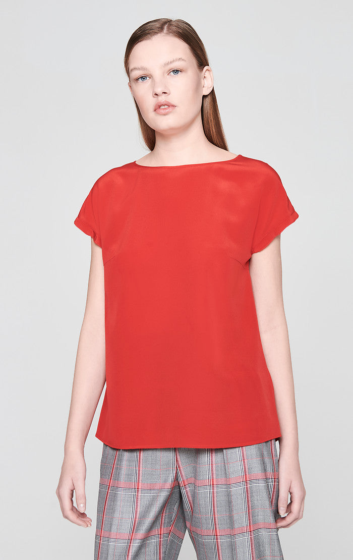 Silk Cap-Sleeve Top - ESCADA