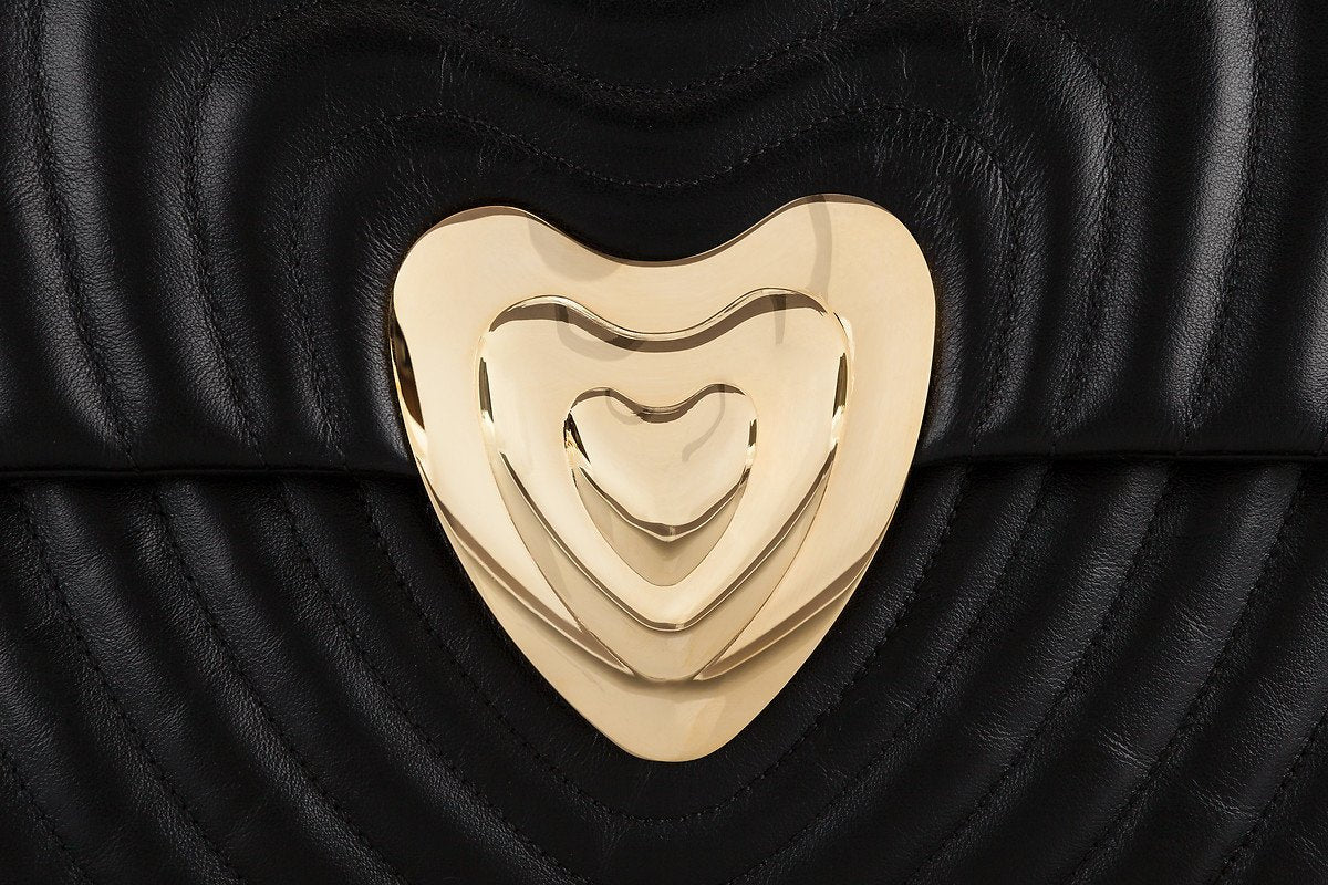 Big Leather Heart Bag - ESCADA