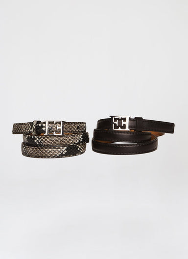 ESCADA Python Leather Belt