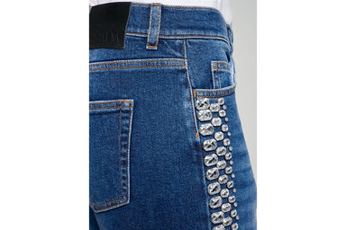 ESCADA Jewel-Embellished Boyfriend Jeans