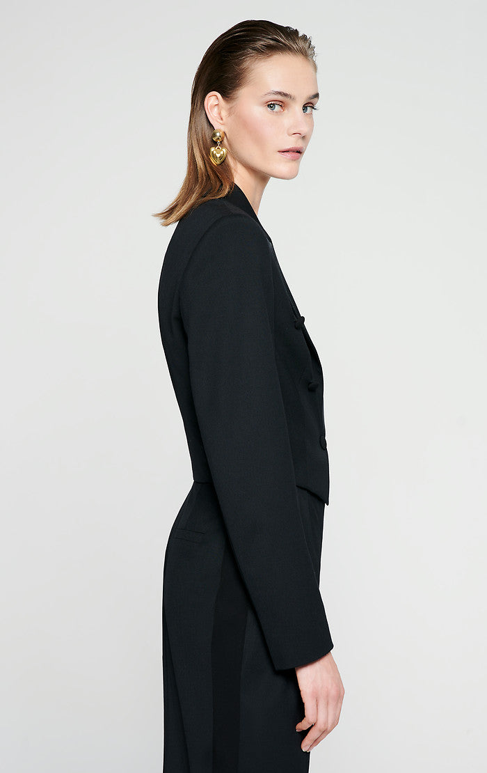 Wool Blend Tuxedo Jacket - ESCADA
