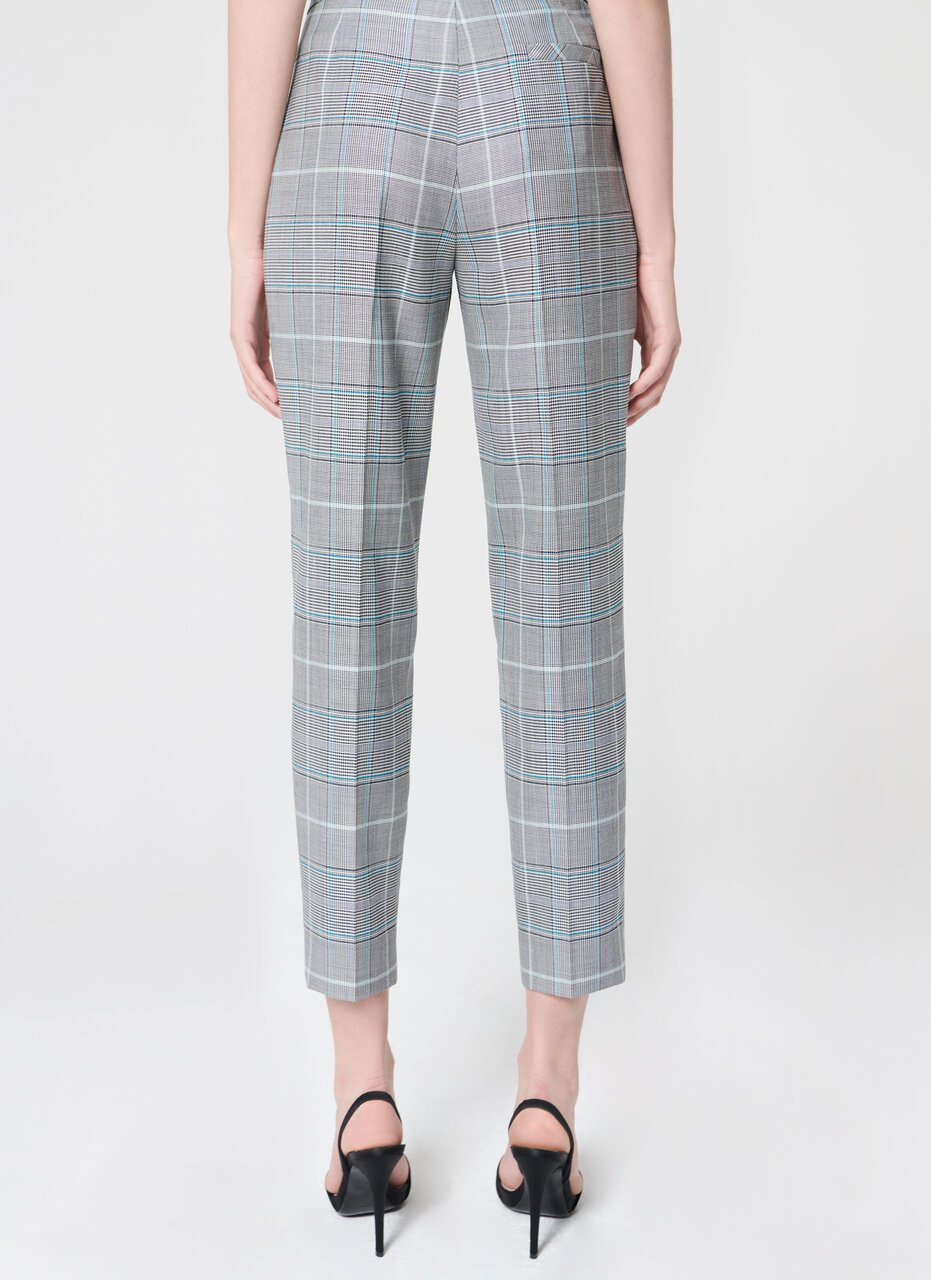 Pant in classic check design - ESCADA