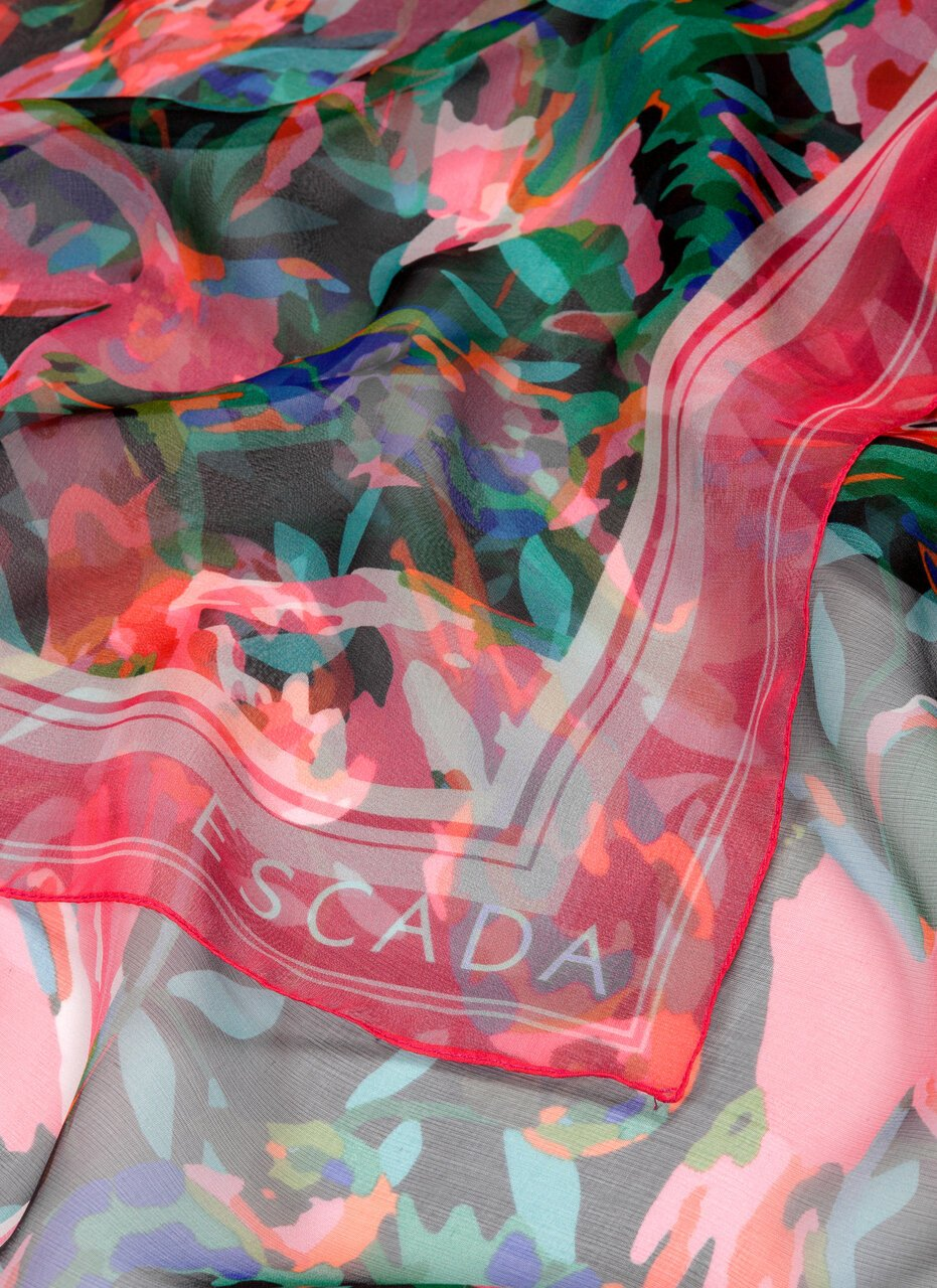 Bird Printed Silk Scarf - ESCADA