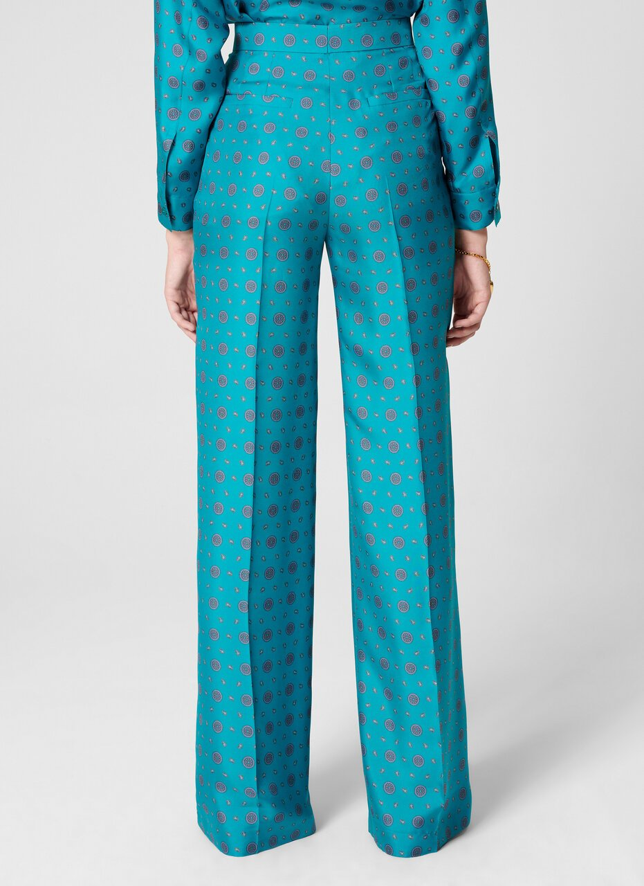 Silk Foulard Print Pants - ESCADA