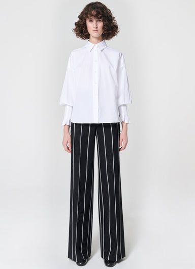 Wideleg fashion wool pants - ESCADA
