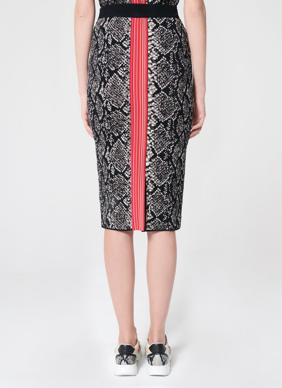 ESCADA Viscose Jacquard Midi Skirt