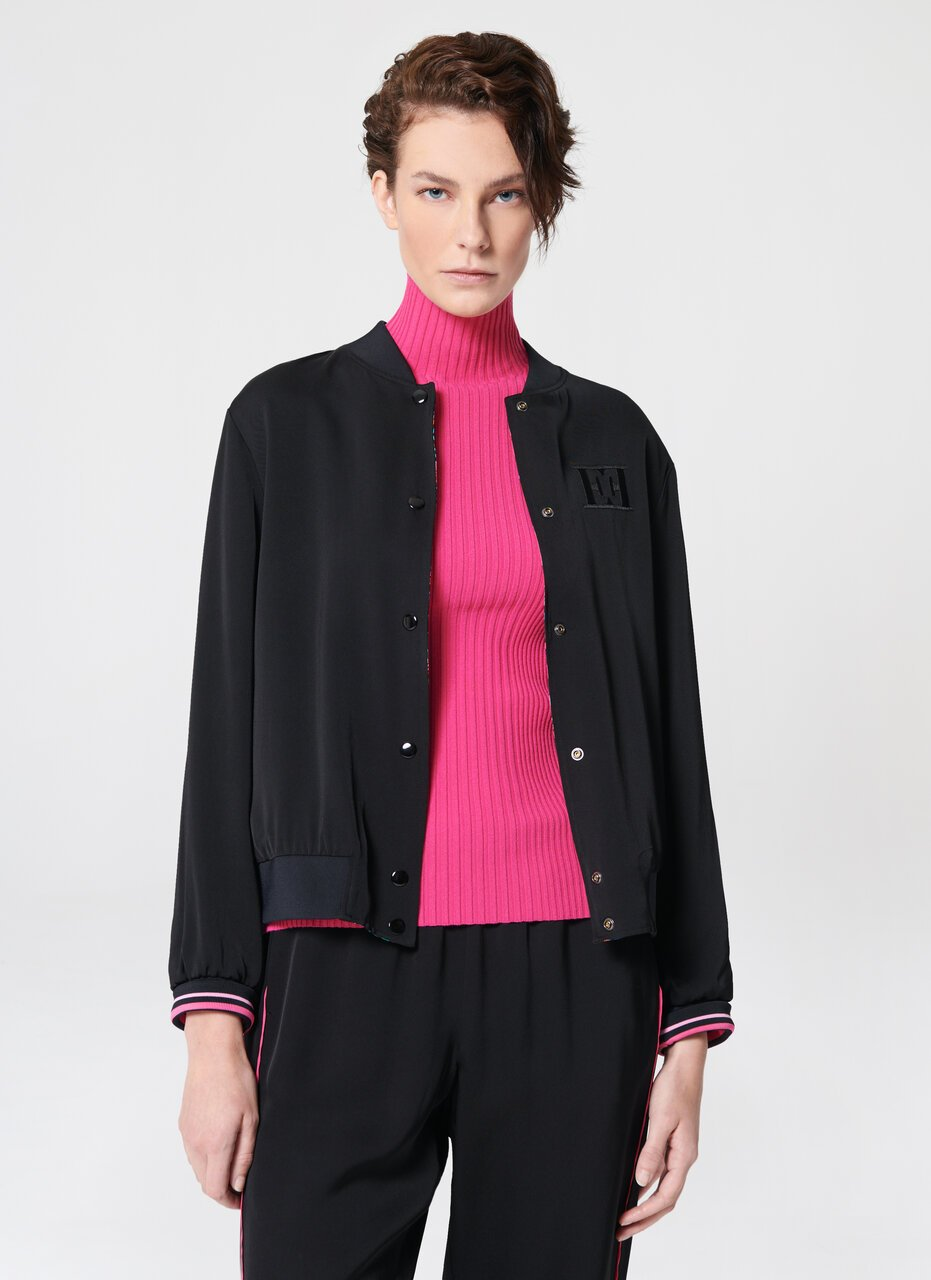 ESCADA Reversible Viscose Crêpe Bomber Jacket