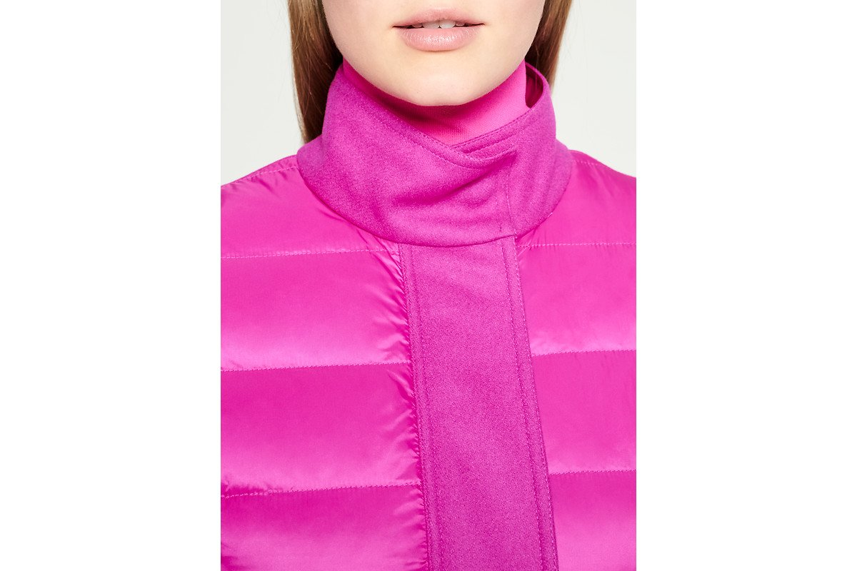 Material Mix Quilted Down Jacket - ESCADA