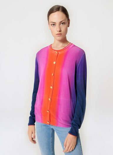 ESCADA Multicolor Ombré Cardigan