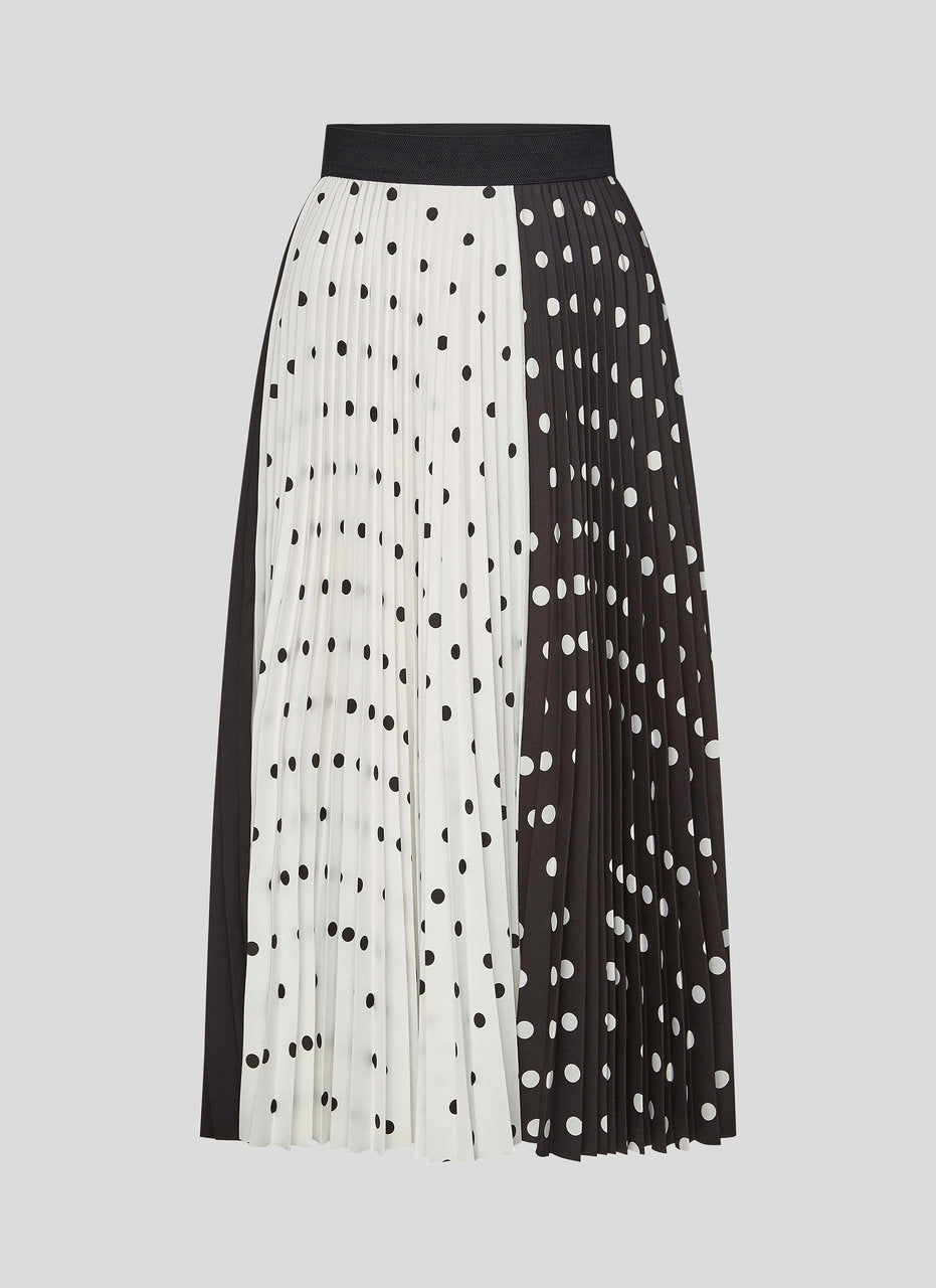 ESCADA Printed Plissé Midi Skirt