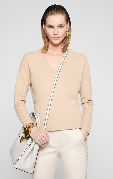 Wool Cashmere V-Neck Sweater - ESCADA