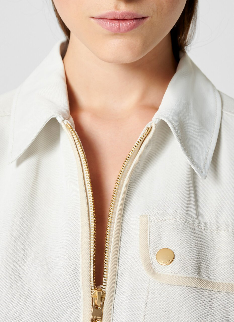 Linen Blend Safari Jacket