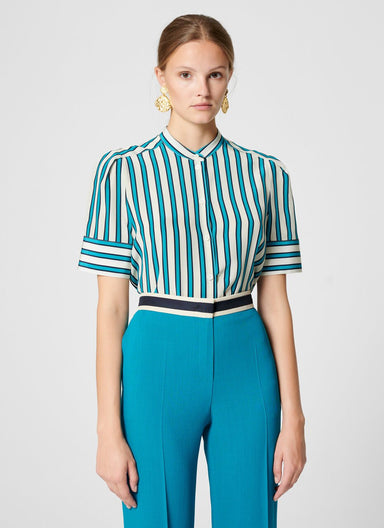 Silk Stripe Blouse - ESCADA