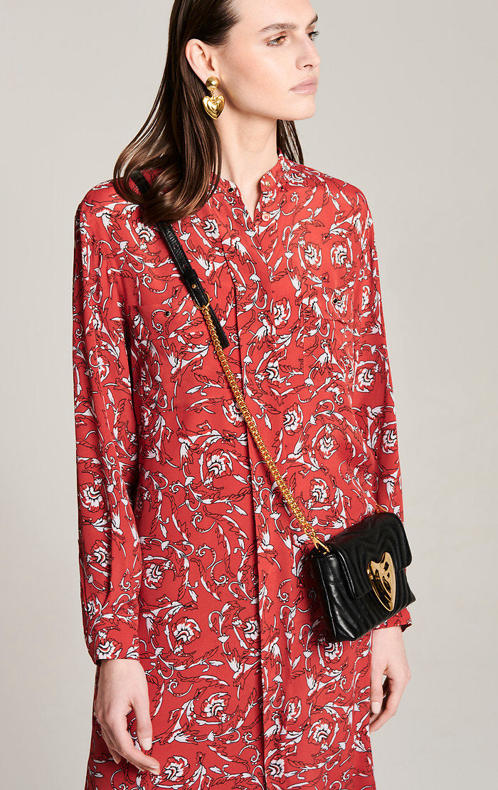 ESCADA Silk Blend Printed Midi Dress