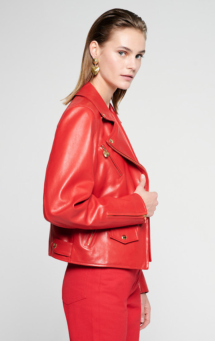 ESCADA Leather Biker Jacket