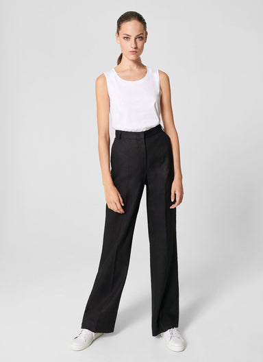 Linen Straight Pants - ESCADA