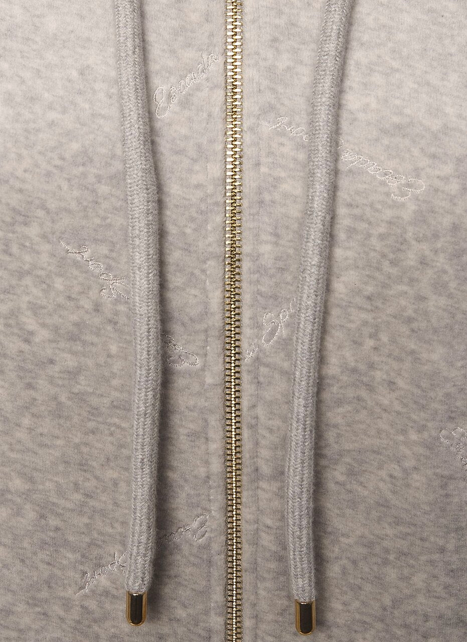 Embroidered Velour Tracksuit Jacket - ESCADA