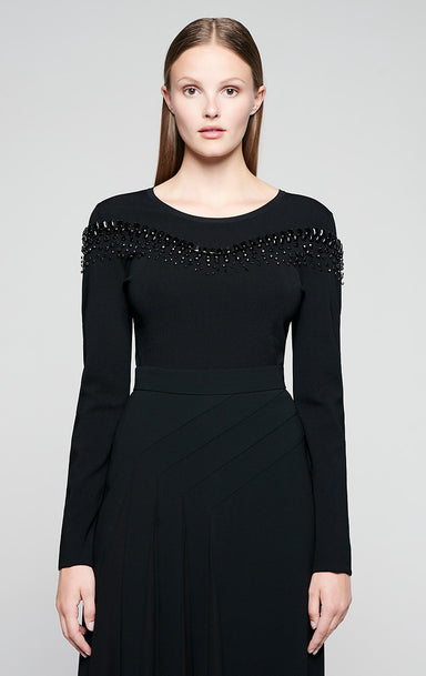 ESCADA Crystal-Embellished Sweater