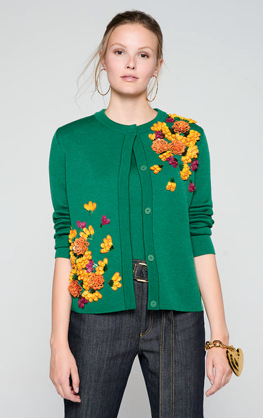ESCADA Wool Embroidered Cardigan