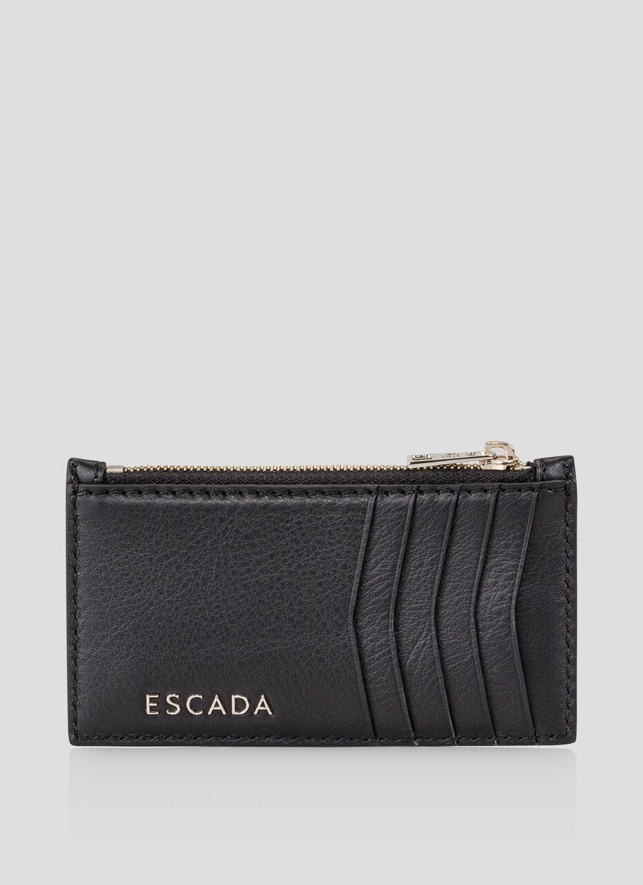 ESCADA Logo Leather Card Case