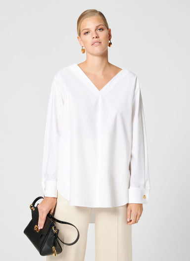 ESCADA Cotton Poplin Tunic Blouse