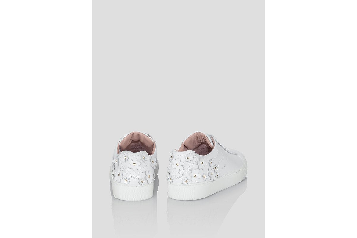 Embellished Leather Sneakers - ESCADA