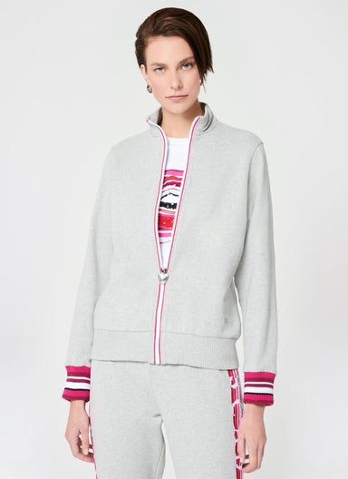 Sporty French Terry Tracksuit Jacket - ESCADA