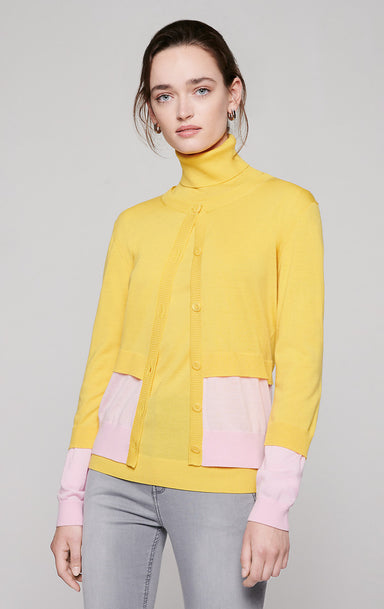 Wool Color Block Cardigan - ESCADA