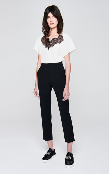 Virgin Wool Cropped Pants - ESCADA