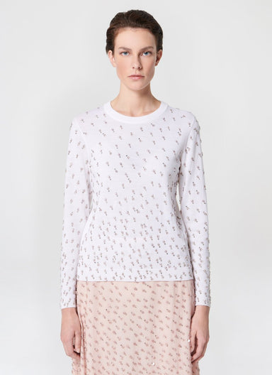 Embroidered wool knit pullover - ESCADA
