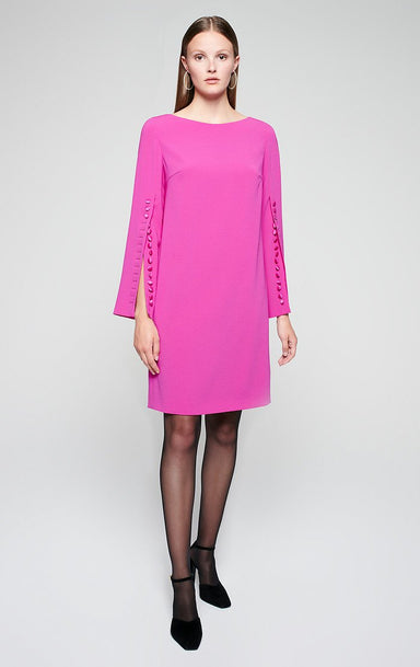ESCADA Crepe Button-Detail Dress