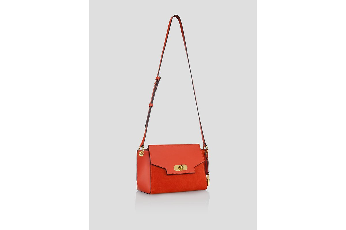 ESCADA Leather and Suede Shoulder Bag