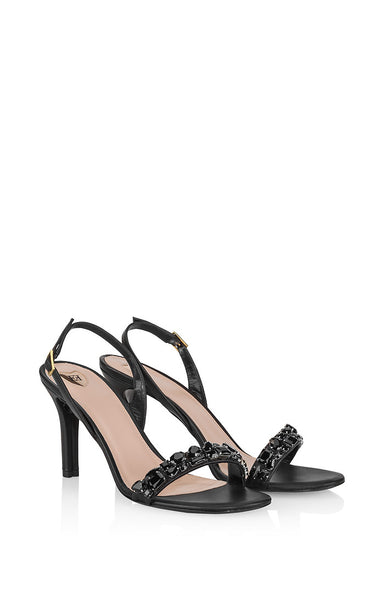 Leather Embellished Sandals - ESCADA
