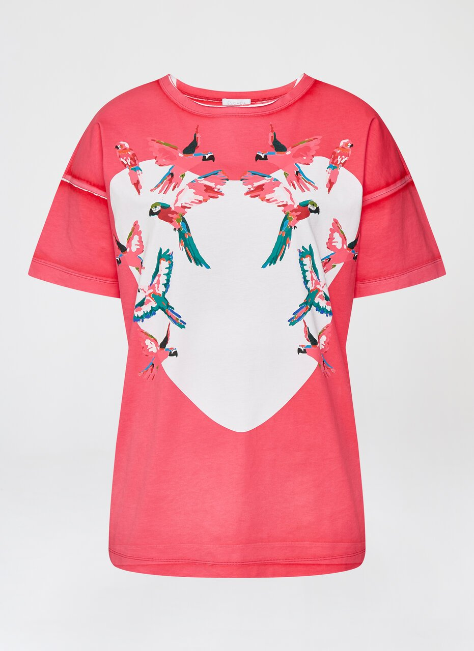 Garment Dyed Printed T-Shirt - ESCADA