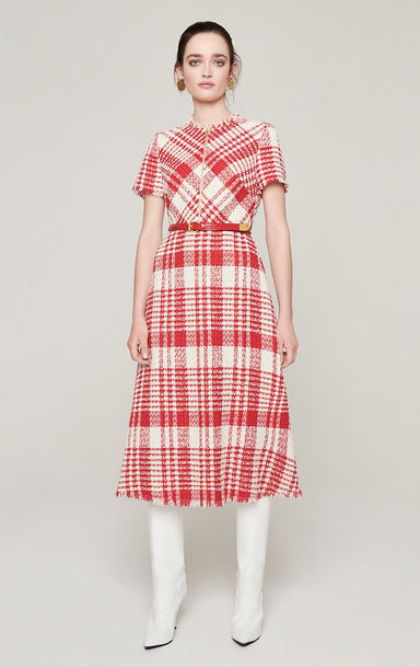 Check Tweed Midi Dress - ESCADA