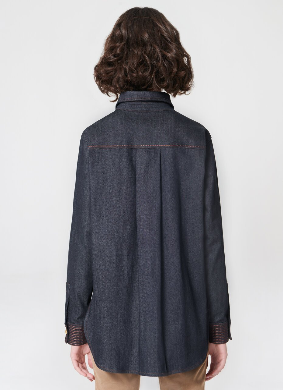 ESCADA Dark blue real denim shirt