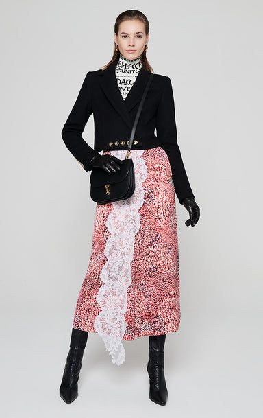 Residency Collection - Printed Satin and Lace Skirt - ESCADA