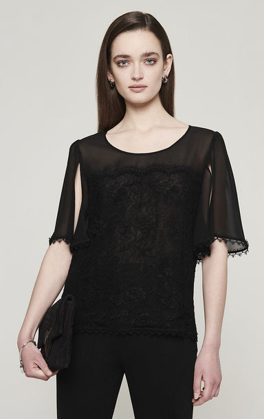 Cotton and Silk Lace Top