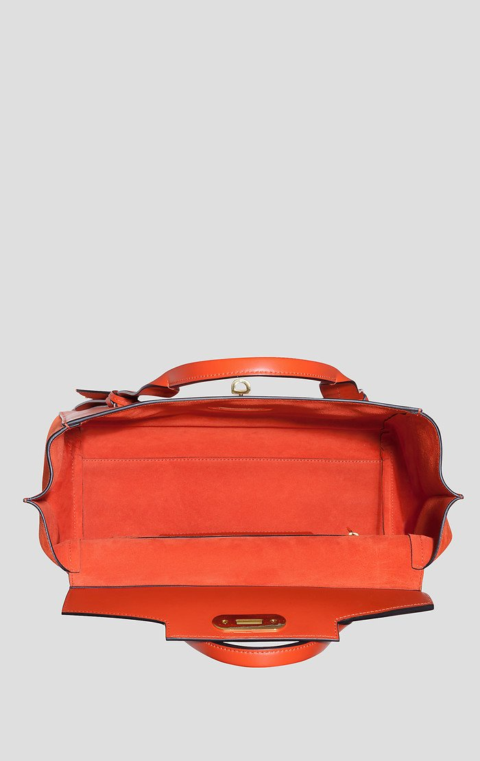 Leather and Suede Handbag - ESCADA