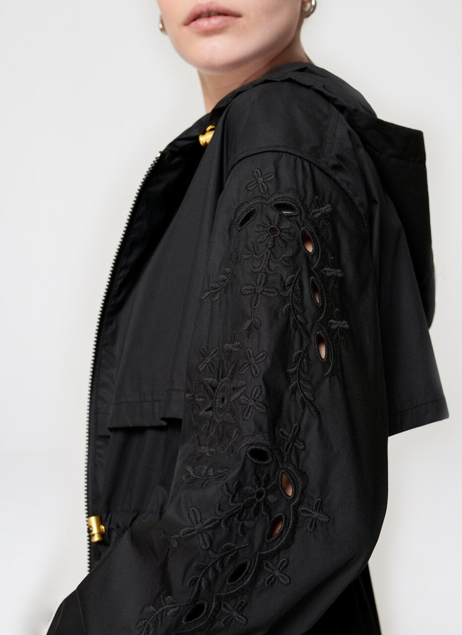 ESCADA Broidery Anglaise Cotton Jacket
