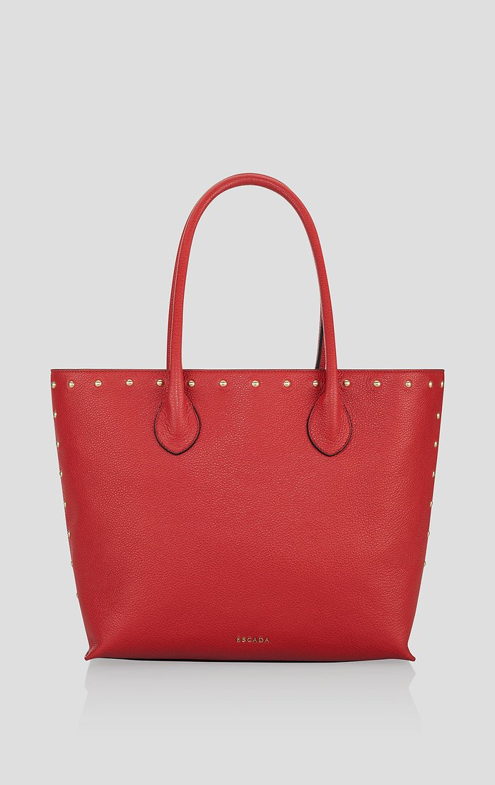 ESCADA Studded Leather Tote Bag