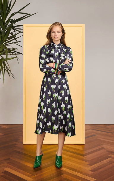 ESCADA Silk Floral Shirt Dress