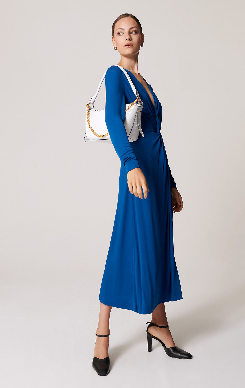 Escada Official Site Jersey Knotted Midi Dress