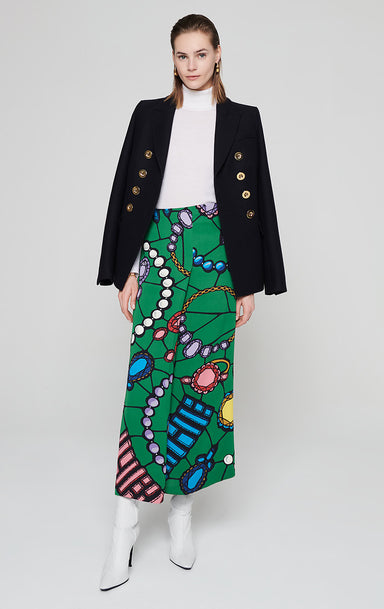 Residency Collection - Jewel Printed Skirt - ESCADA
