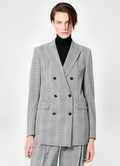 Fashionable Viscose Stretch Check Blazer - ESCADA