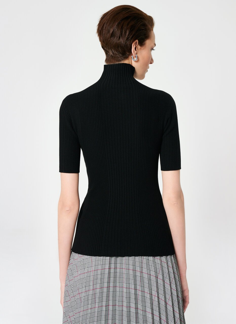 ESCADA Viscose Blend Turtle Neck Top