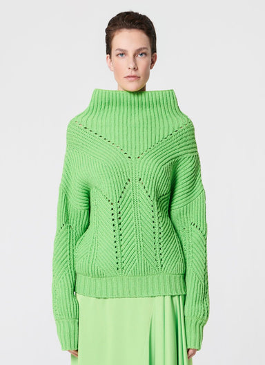 Wool mix knit sweater - ESCADA