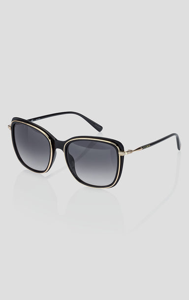Square Acetate and Metal Sunglasses - ESCADA