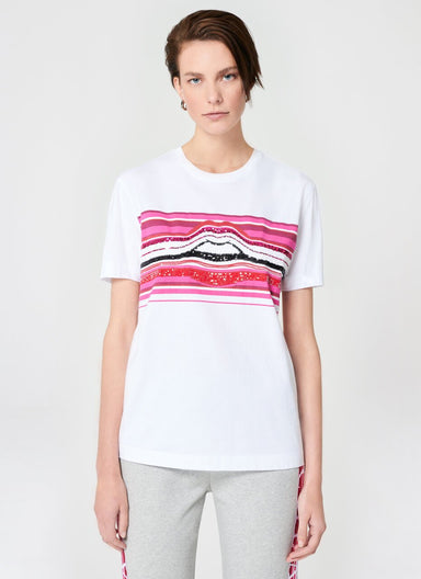 Multicolor Lip Sequins T-Shirt - ESCADA