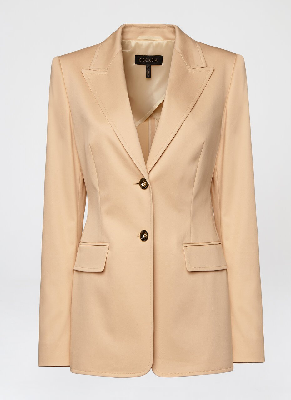 Cotton Gabardine Blazer - ESCADA